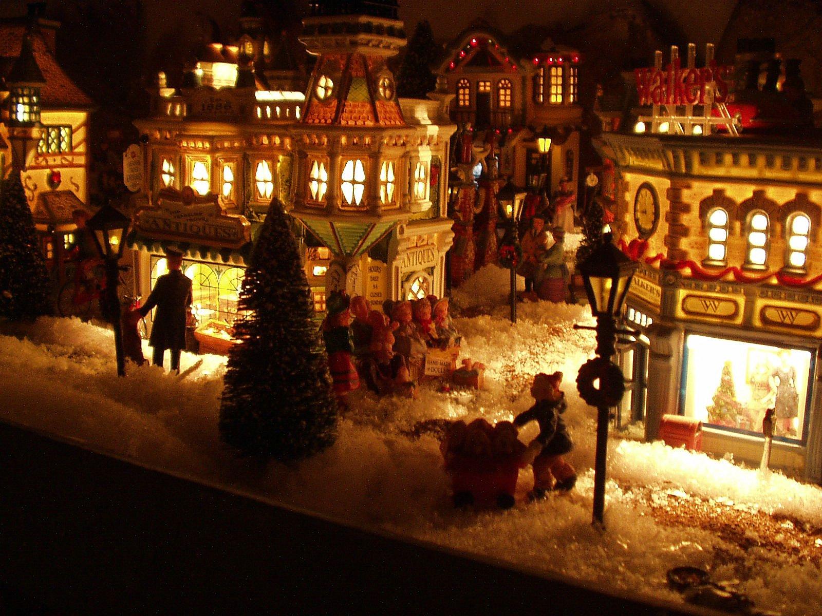 #B9410D Village De Noel 2008 6119 decoration de noel village animé 1600x1200 px @ aertt.com